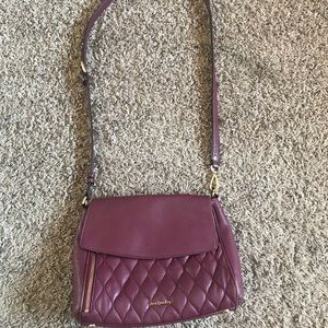 Vera Bradley quilted Leather cross body
